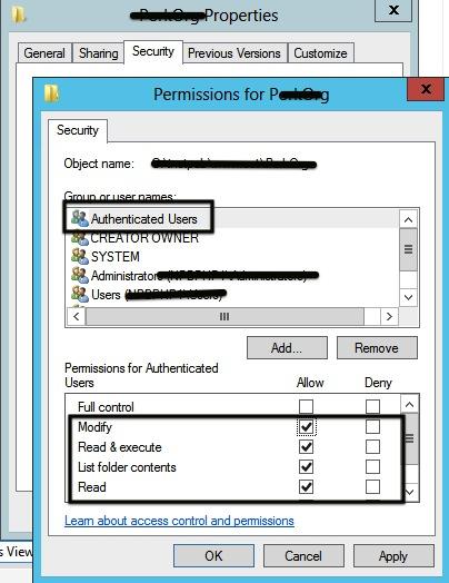 WordPress IIS Permissions